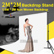 1.6x2M White Non Woven Backdrop & 2x2M Background Support Stand Studio Photo Kit