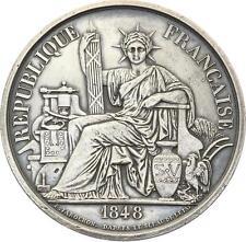 O3959 RARE Jeton Imprimerie Papeterie Farochon Sceau Etat 1848 Argent SUP