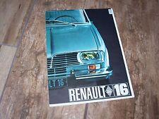 Prospectus /  Brochure RENAULT 16 1967  //
