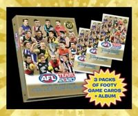 2020 AFL TEAMCOACH TEAM COACH TRADING GAME BLANK ALBUM FOLDER + 3 PACKS