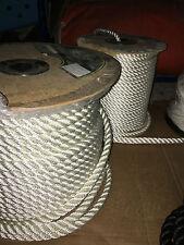 Cordage BLANC pour amarre haute ténacité 10m Ø 12 mm 2270 KG