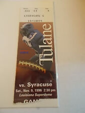 1996 Tulane Green Wave Syracuse Orangemen Football Ticket Stub SK3