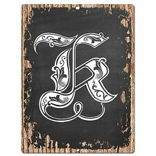 PP0482 Alphabet Initial Name Letter K Chic Sign Bar Shop Store Home Room Decor