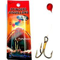 Lindy #6 Stinger Aiguillons Sharp Treble Fishing Hooks #SS102
