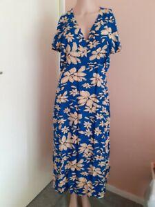 Studio Women's Woven Empire Dress Sizes 14, 18, Holiday, Casual Blu15566