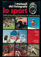 CAPPON MASSIMO ZANNIER ITALO LO SPORT I MANUALI DEL FOTOGRAFO MONDADORI 1980