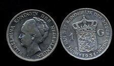 NETHERLANDS Wilhelmina 1 Gulden 1931 AG