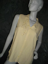 * AMARANTO * CREAM BEIGE SLEEVLESS FLOATY BLOUSE SIZE 18 NEXT DAY DELIVERY :)