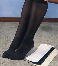 Women's Trouser Socks Navy Sz 6-9 3Pk New 85% Nyon 15% Lycra
