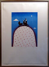 """Mackenzie Thorpe """"Family On A Hill"""" H.Signed with custom frame Make an Offer!"""