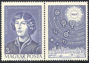 Hungary 1973 Copernicus/Space/People/Science/Astronomy/Astronomers 1v  (n28500)