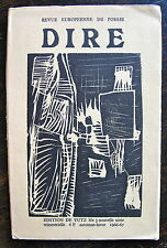 DIRE, revue europeenne de poesie. N°3 nouvelle serie, 1967. Jean Follain, Luc Be
