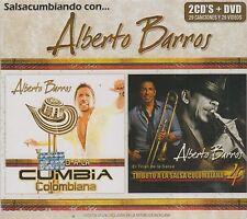 Salsacumbiando Con Alberto Barros CD NEW 2 CD's + DVD 29 Canciones y 29 Videos