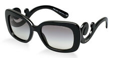 PRADA Square Baroque Sunglasses Spr PR 27os Black Gradient 1ab3m1 54 270