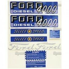New Ford 4000 Select-O-Speed Diesel Complete Decal Set