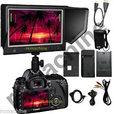 """Lilliput 7"""" 664/O HDMI In Out SLIM Monitor shutter release Canon 5D2 5D3 III"""