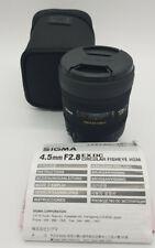 Sigma 4,5 MM/2,8 Ex Dc Fisheye HSM Lens For Sigma Cameras By Dealer