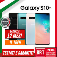 SMARTPHONE SAMSUNG GALAXY S10+ PLUS 128GB SM-G975 G975F 12 MESI GARANZIA ITALIA!