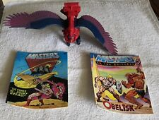 Vintage He-Man MOTU Screech Action Figure, Two Story Books 1982 Mattel