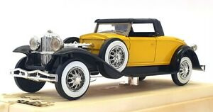 Solido 1/43 Scale Model Car 4035 - Duesenberg J Spider Soft Top - Yellow