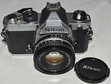 NIKON FM silver with Nikkor 1.8 / 50 mm E very good ++++++