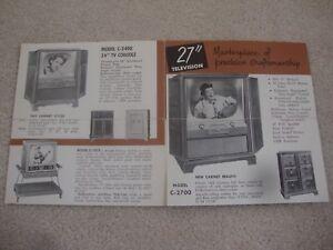 1950s HALLICRAFTERS TELEVISION SALES BROCHURE.