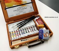Winsor & Newton Artists Watercolour painting box with paints & brushes RRP £99