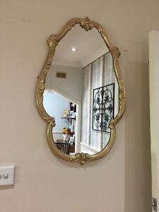 Beauty and the Beast Gold Painted Mirror