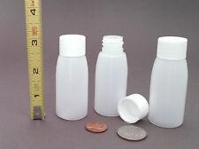 20 Mini Rigid Plastic Bottles - 1oz / 30ml - BPA-free HDPE - NOT squeezable