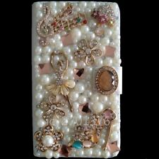 Custom made Bling Luxury Diamonds Crystal Leather wallet flip case for iPhone