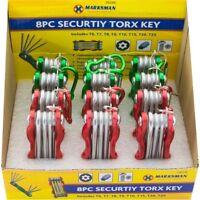 8 PC Folding Torx Hex Ball Key Set Metric Pocket Bit Mechanic Tool Brand New