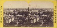 Prague Bohême République tchèque Autriche Stéréo Vintage ca 1860