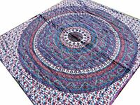 Couette indienne Violet fait main Batik Inde Taies oreillers Dessus de lit Coton