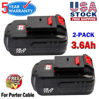 2x Upgraded For Porter Cable PC18B 3600mAh 18V PC188 PCC489N PCMVC Battery Pack