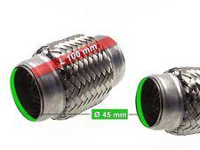 Auspuff Flexrohr Hosenrohr Katalysator Ø 45 x 100 Länge (mm)