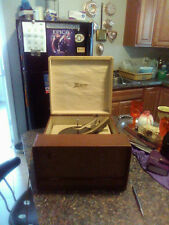 vintage zenith portable record player dual speakers tested working