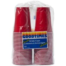 50 Pack 16oz Red Coex Plastic Cups