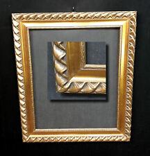 Antik Jugendstil Bilderrahmen mit Gold Ornamentik. Spiegelrahmen 54x44,5cm