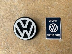 Mk1 Golf GTI Cabriolet VW Round Badge in WHITE 191853601B