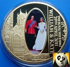2011 The Royal Wedding William and Kate Gold Plated 40mm Proof Coin Medal
