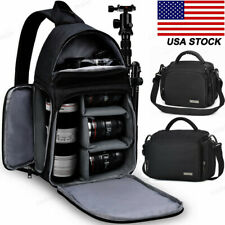 Sling Camera Bag Backpack Single Shoulder Case  Pack For Canon Nikon Sony SLR