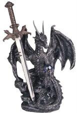 Dragon Sword Steel Fantasy Statue Figurine Medieval Home Decor Gift Collection