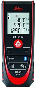 [Leica] DISTO D2 New 330ft Laser Distance Measure with Bluetooth 4.0, Black/Red