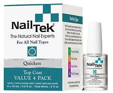 Nail Tek Quicken Top Coat Value 4 Pack - 4/.5oz Bottles - 55825