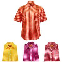Regular Fit Short Sleeve Shirt Loud Originals Check Stripes Pattern Print