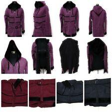 NEW WINTER Women Ladies Fashion Acrylic Faux Fur Fleece Warm Coat Jacket Hood