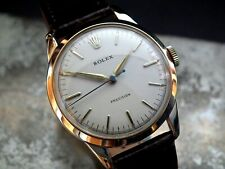 Beautiful 1950's Mid-Size Solid 9ct Gold Rolex Precision Ladies Vintage Watch