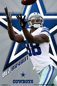 Dez Bryant DYNAMO Dallas Cowboys NFL Football Action Official 22x34 WALL POSTER