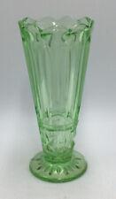 green depression glass Vase