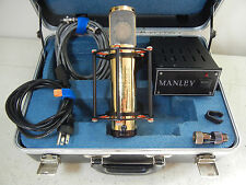 MANLEY LABS GOLD REFERENCE MULTI PATTERN LARGE DIAPHRAGM TUBE CONDENSER MIC LQQK